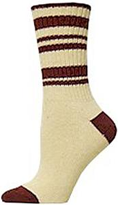 E. G. Smith Womens Hemp Random Stripe Crew Socks