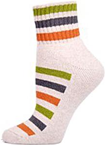 E. G. Smith Recycled Striped Fleece Footie Socks