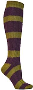 E. G. Smith Recycled Rugby Stripe Cable Knee Socks
