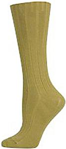 E. G. Smith Womens Organic Dress Rib Crew Socks