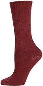E. G. Smith Womens Organic Ribbed Crew Socks