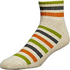 E. G. Smith Men Recycled Striped Fleece Short Sock