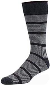 E. G. Smith Mens Recycled Pinstripe Crew Socks