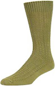 E. G. Smith Mens Organic Basket Weave Crew Socks