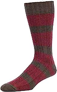 E. G. Smith Mens Recycled Rugby Stripe Crew Socks