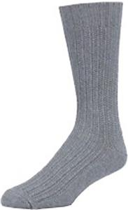 E. G. Smith Mens Recycled Textured Rib Crew Socks