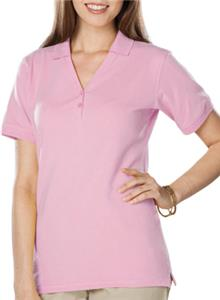 Blue Generation Ladies SS Y-Placket Polo Shirt