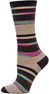 Nouvella Womens Mirage Stripe Crew Socks