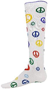 Nouvella Womens Peace Signs Knee High Socks