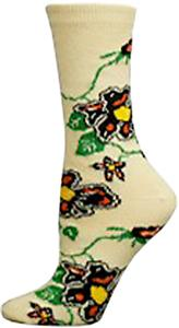 Nouvella Womens All Over Floral Crew Socks