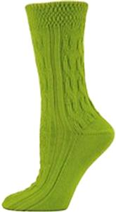Nouvella Womens Textured Cuff Cable Crew Socks