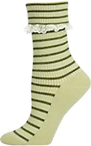 Nouvella Women Lace Trimmed Turned Cuff Crew Socks