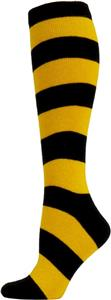 Nouvella Womens Cotton Rugby Stripe Knee Hi Socks