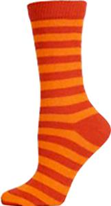 Nouvella Womens Two Color Striped Crew Socks