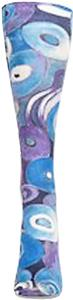 Nouvella Blue Spirals Snapshot Trouser Socks