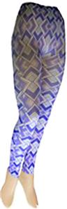 Nouvella Purple Diamonds Sublimated Footless Tight