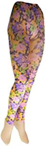 Nouvella Pink Petals Sublimated Footless Tights