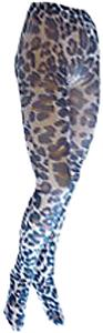Nouvella Womens Animal In Tan Sublimated Tights