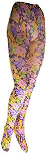 Nouvella Womens Pink Petals Sublimated Tights