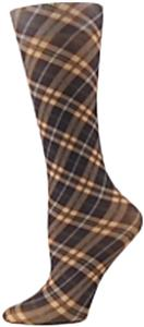 Nouvella Brown Plaid Sublimated Trouser Socks