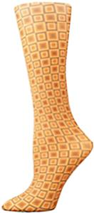 Nouvella Orange Squares Sublimated Trouser Socks