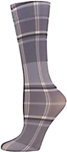 Nouvella Grey Plaid Sublimated Trouser Socks