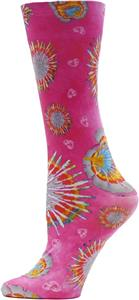 Nouvella Pink Tie Dye Sublimated Trouser Socks