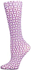 Nouvella Purple Squares Sublimated Trouser Socks