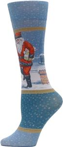 Nouvella Womens Santa Sublimated Trouser Socks