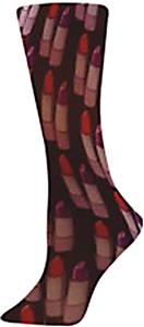 Nouvella Red Lipstick Sublimated Trouser Socks