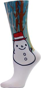 Nouvella Womens Snowman Sublimated Trouser Socks