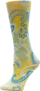 Nouvella Lime Paisley Sublimated Trouser Socks
