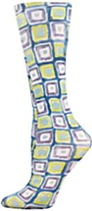 Nouvella Blue Denim Square Sublimated Trouser Sock