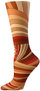 Nouvella Brown Orange Bloom Sublimate Trouser Sock