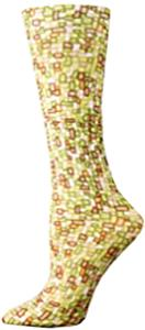 Nouvella Womens Chicklets Sublimated Trouser Socks
