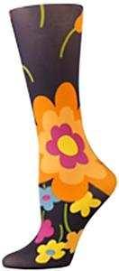 Nouvella Charcoal Flower Sublimated Trouser Socks