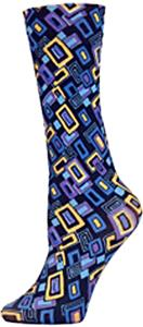 Nouvella Royal Blk Squares Sublimated Trouser Sock