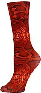 Nouvella Red Snake Sublimated Trouser Socks