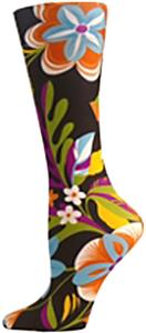 Nouvella Neon Flowers Sublimated Trouser Socks