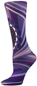 Nouvella Purple Peri Bloom Sublimated Trouser Sock