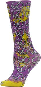 Nouvella Peace Sign Sublimated Trouser Socks