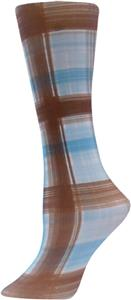 Nouvella Brown Madras Sublimated Trouser Socks