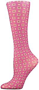 Nouvella Fuchsia Squares Sublimated Trouser Socks