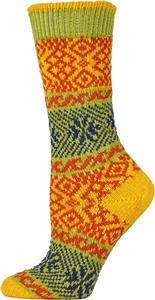 QT Feet Recycled Wonderland Fairisle Crew Socks