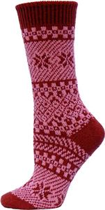 QT Feet Recycled Juneau Fairisle Crew Socks