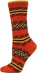 QT Feet Recycled Atlantis Fairisle Crew Socks