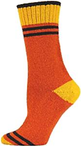 QT Feet Womens Recycled Sporty Stripe Crew Socks