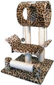 Go Pet Club Leopard Print Cat Tree Condo Furniture