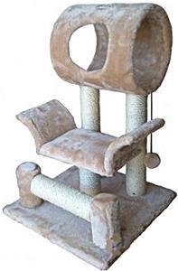 """Go Pet Club 28"""" Beige Cat Tree Condo Furniture"""