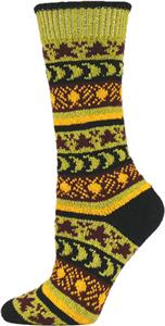 QT Feet Women Recycled Sun, Moon, Stars Crew Socks